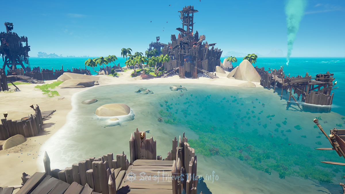 Sea Of Thieves Map - Fort Island - Keel Haul Fort