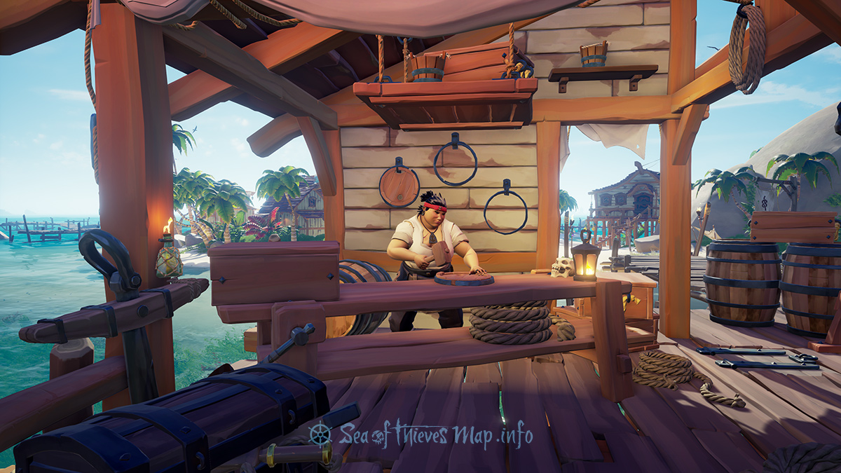 Sea Of Thieves Map - Sanctuary Outpost - Shipwright