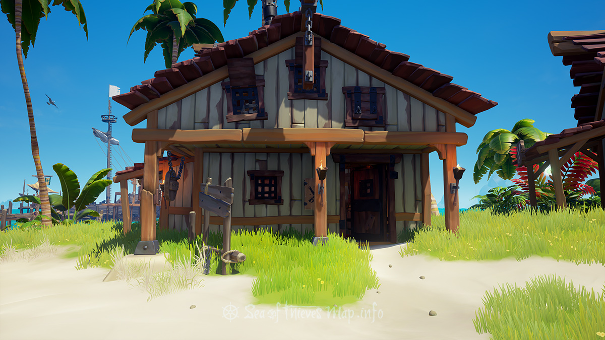 Sea Of Thieves Map - Sanctuary Outpost - Weaponsmith's Shop