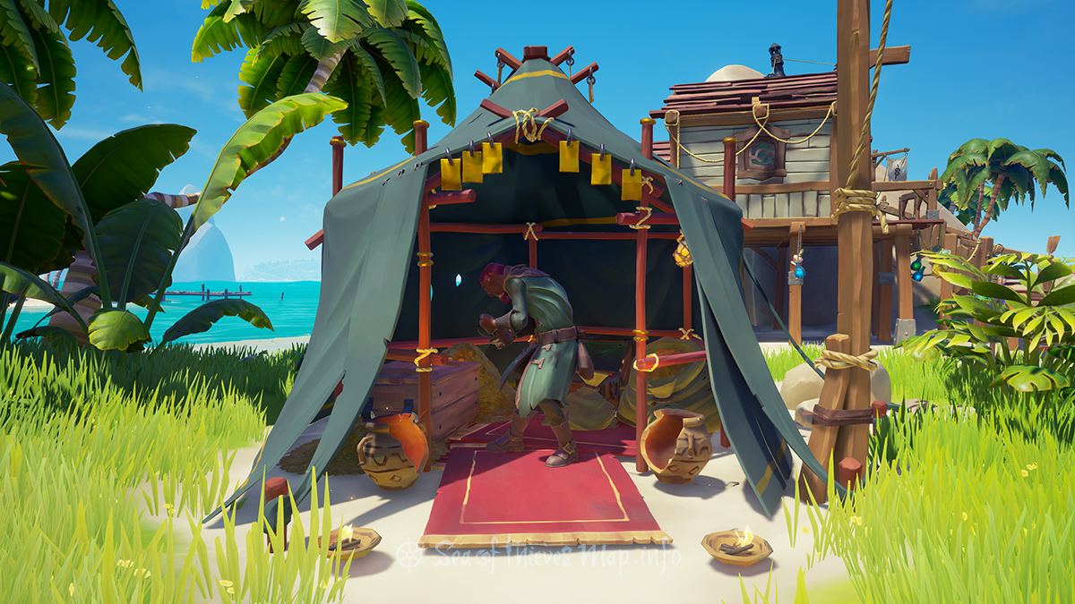 Sea Of Thieves Map - Sanctuary Outpost - Gold Hoarder Shopkeeper