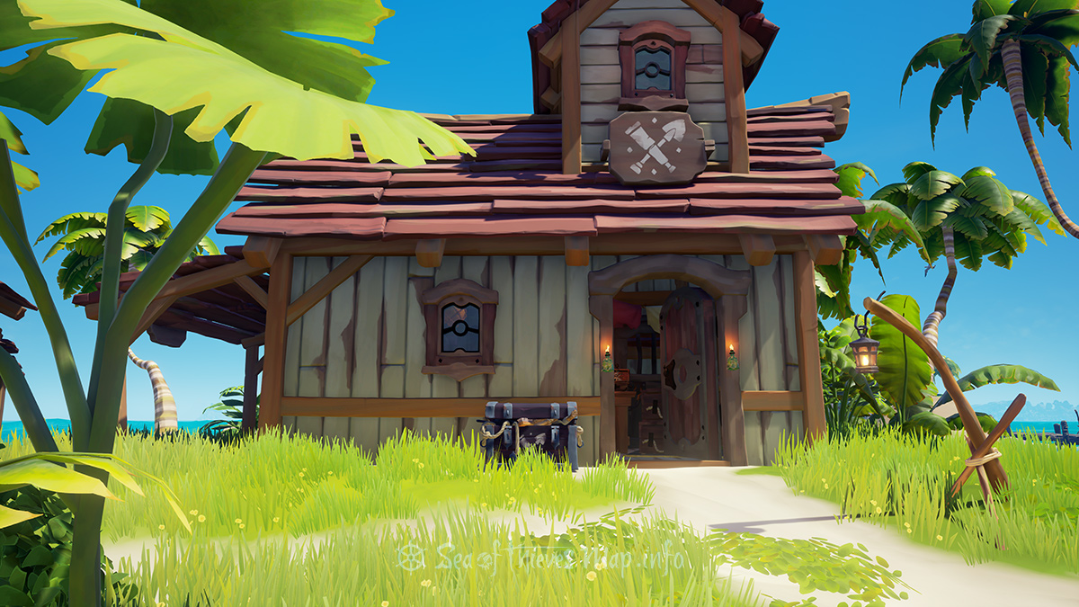 Sea Of Thieves Map - Sanctuary Outpost - Equipment Shop
