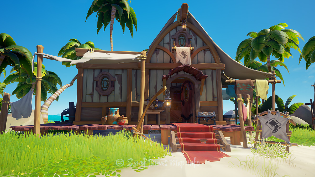 Sea Of Thieves Map - Sanctuary Outpost - Clothing Shop