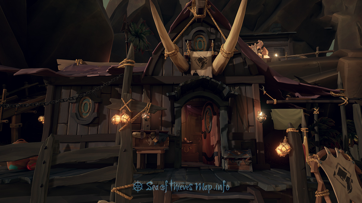 Sea Of Thieves Map - Dagger Tooth Outpost - Clothing Shop