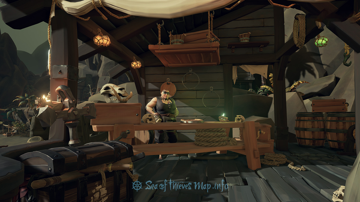 Sea Of Thieves Map - Dagger Tooth Outpost - Shipwright