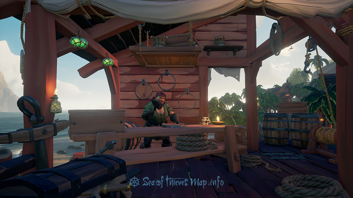 Sea Of Thieves Map - Plunder Outpost - Shipwright