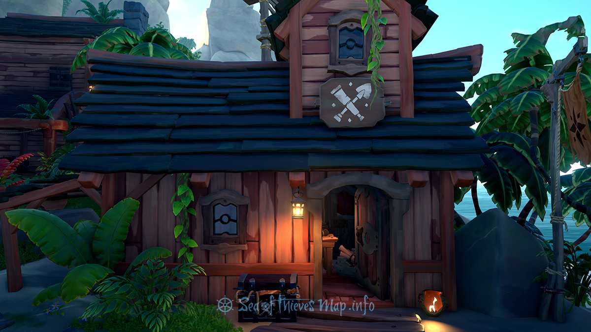 Sea Of Thieves Map - Plunder Outpost - Equipment Shop