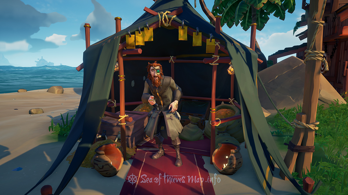 Sea Of Thieves Map - Plunder Outpost - Gold Hoarder Shopkeeper
