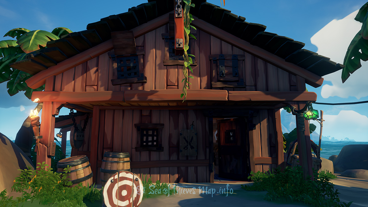 Sea Of Thieves Map - Plunder Outpost - Weaponsmith's Shop