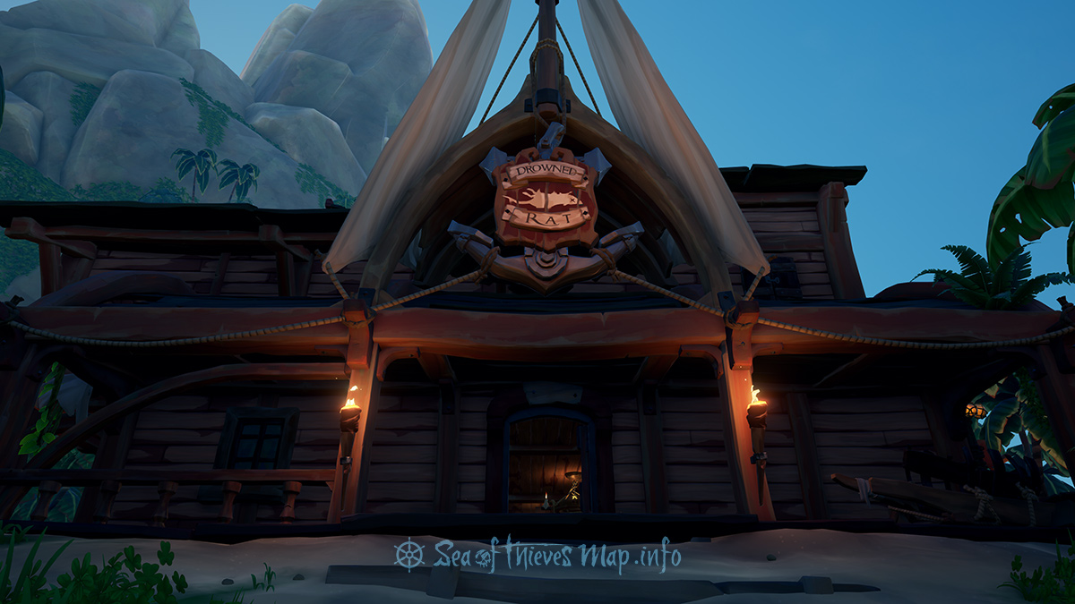 Sea Of Thieves Map - Plunder Outpost - Tavern