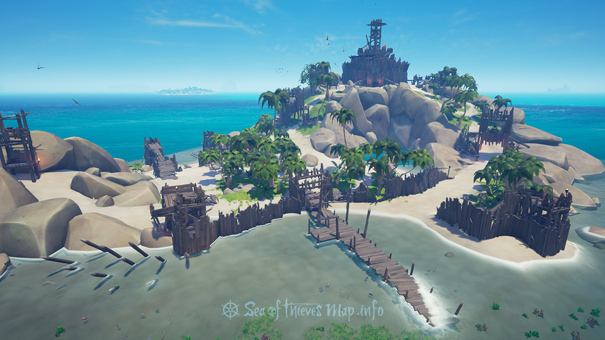Sea Of Thieves Map - Fort Island - Hidden Spring Keep