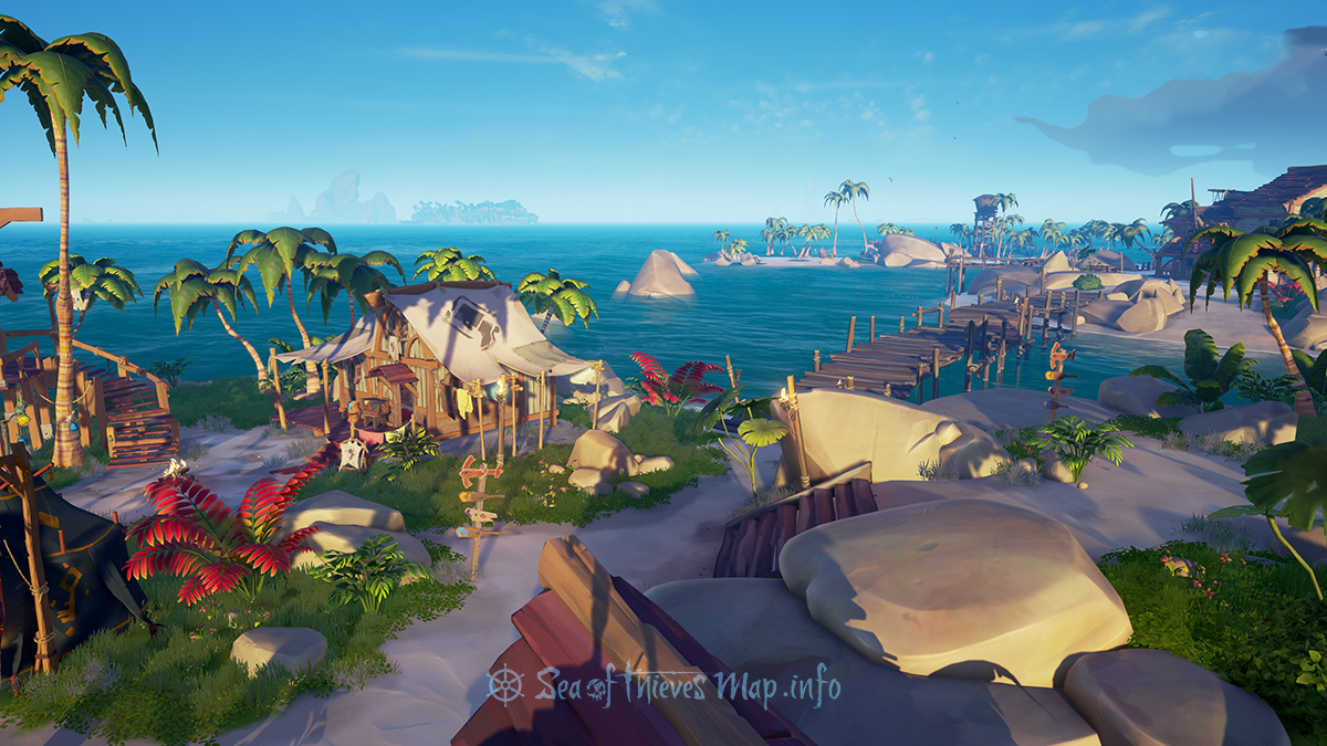 Sea Of Thieves Map - Outpost Island - Golden Sands Outpost