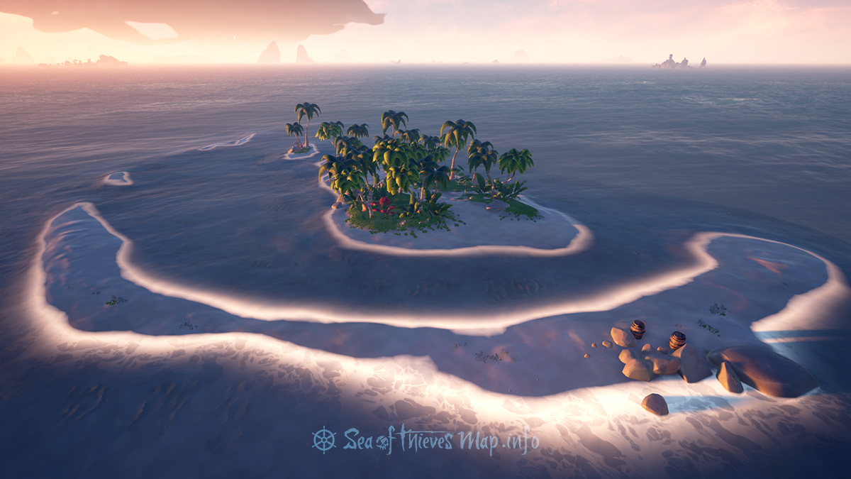 Sea Of Thieves Map - Adventure Island - Sandy Shallows