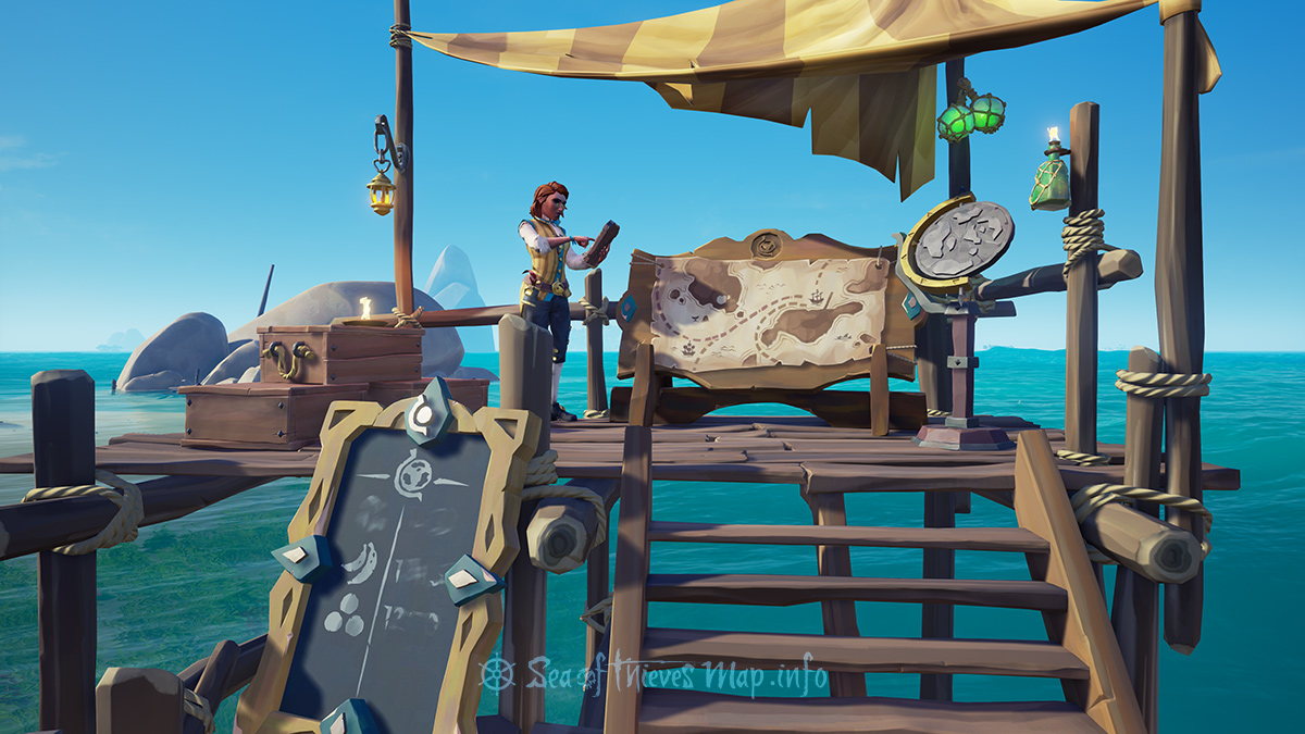 Sea Of Thieves Map - Sanctuary Outpost - Merchant Alliance Shopkeeper