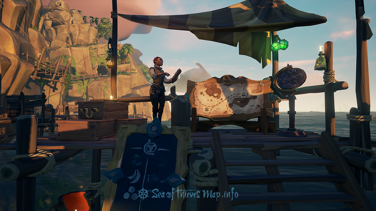 Sea Of Thieves Map - Ancient Spire Outpost - Merchant Alliance Shopkeeper