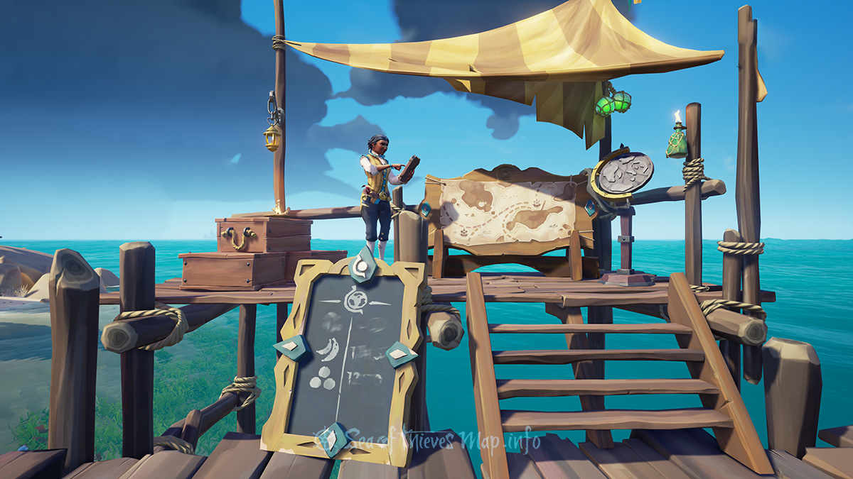Sea Of Thieves Map - Golden Sands Outpost - Merchant Alliance Shopkeeper