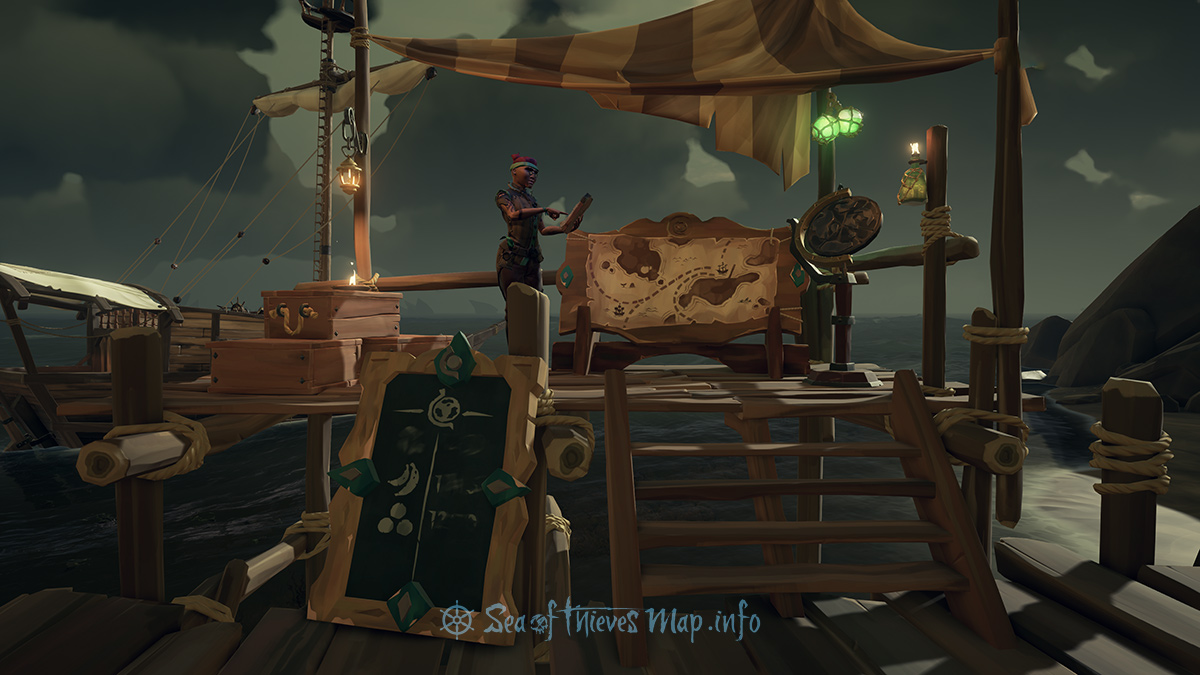 Sea Of Thieves Map - Dagger Tooth Outpost - Merchant Alliance Shopkeeper