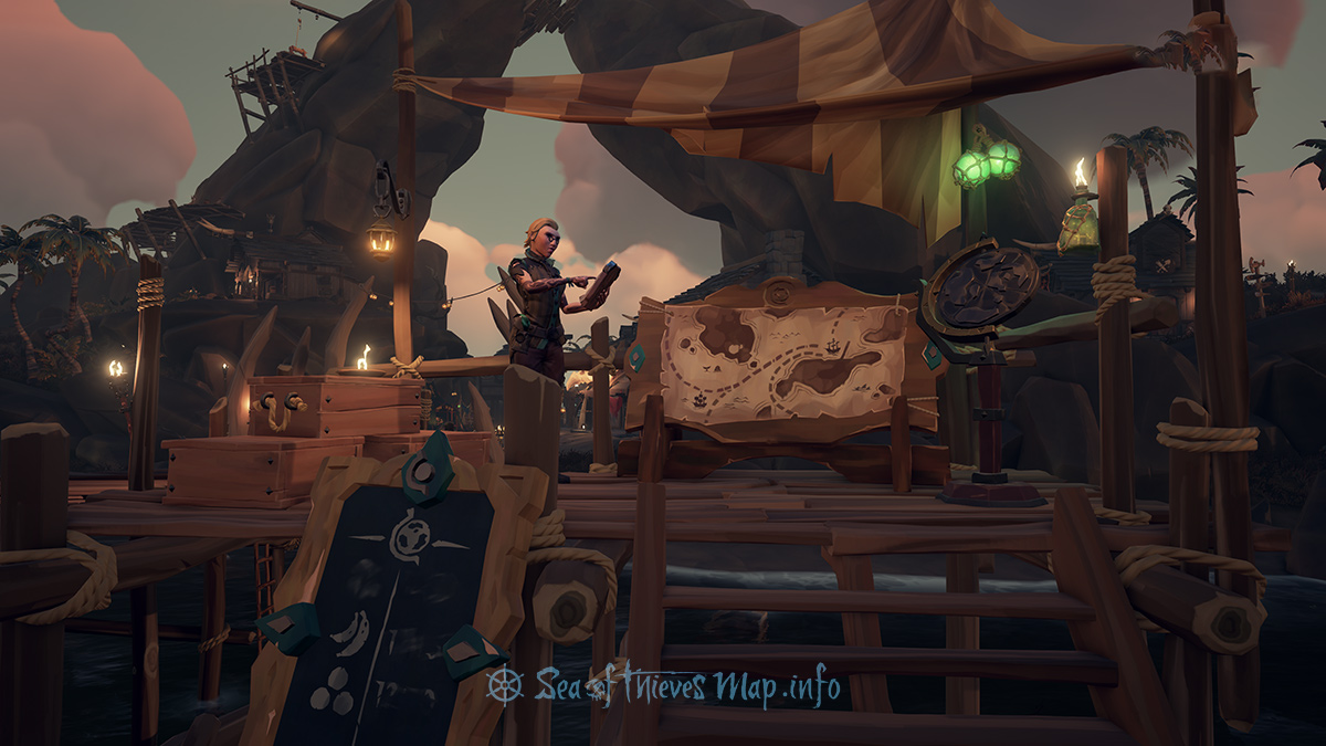 Sea Of Thieves Map - Galleon's Grave Outpost - Merchant Alliance Shopkeeper