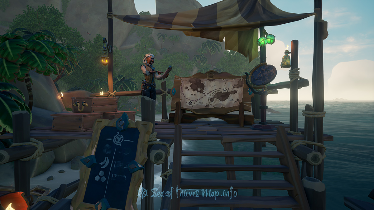 Sea Of Thieves Map - Plunder Outpost - Merchant Alliance Shopkeeper