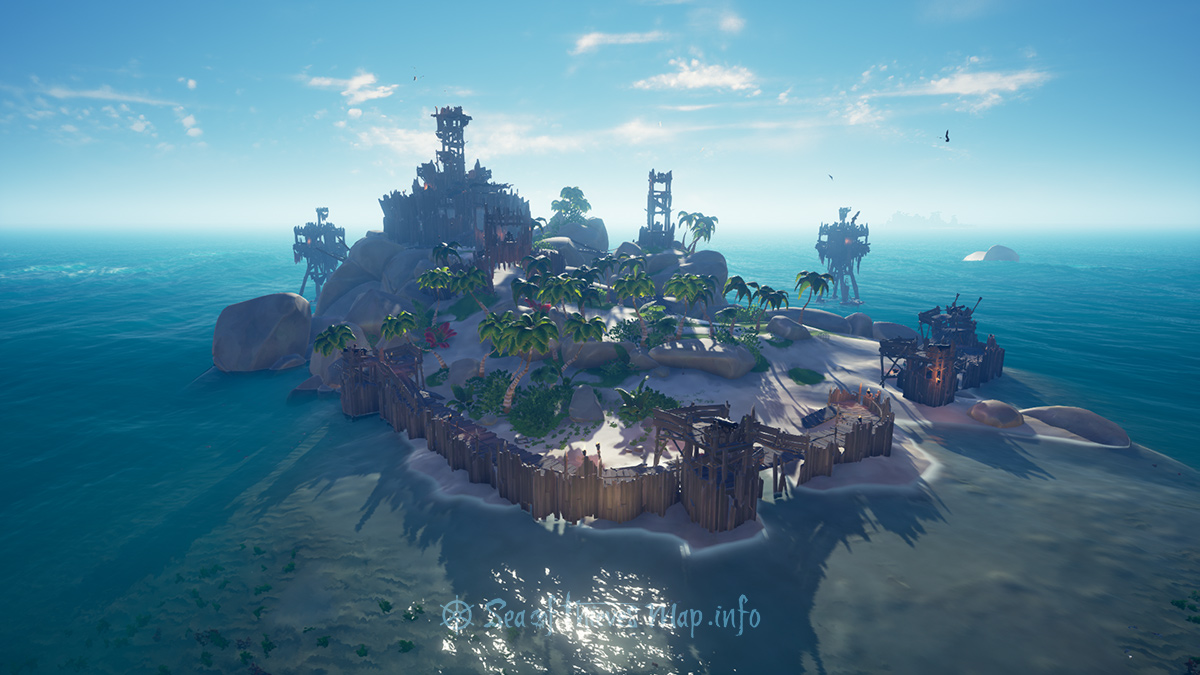 Sea Of Thieves Map - Fort Island - Sailor's Knot Stronghold