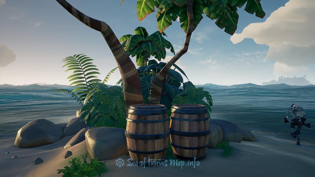 Sea Of Thieves Map - Two Barrel Tree - Landmark