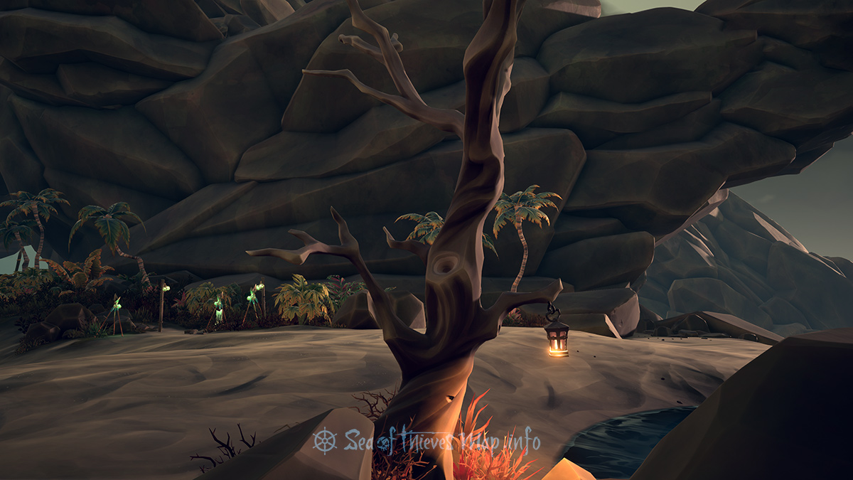 Sea Of Thieves Map - Lantern Tree - Landmark
