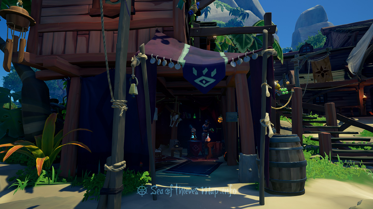 Sea Of Thieves Map - Plunder Outpost - Order of Souls Shopkeeper