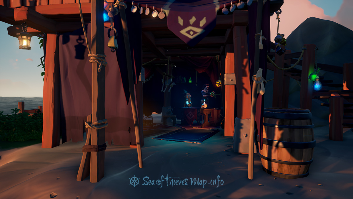 Sea Of Thieves Map - Ancient Spire Outpost - Order of Souls Shopkeeper