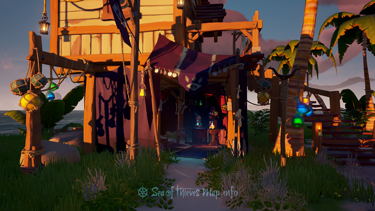 Sea Of Thieves Map - Golden Sands Outpost - Order of Souls Shopkeeper