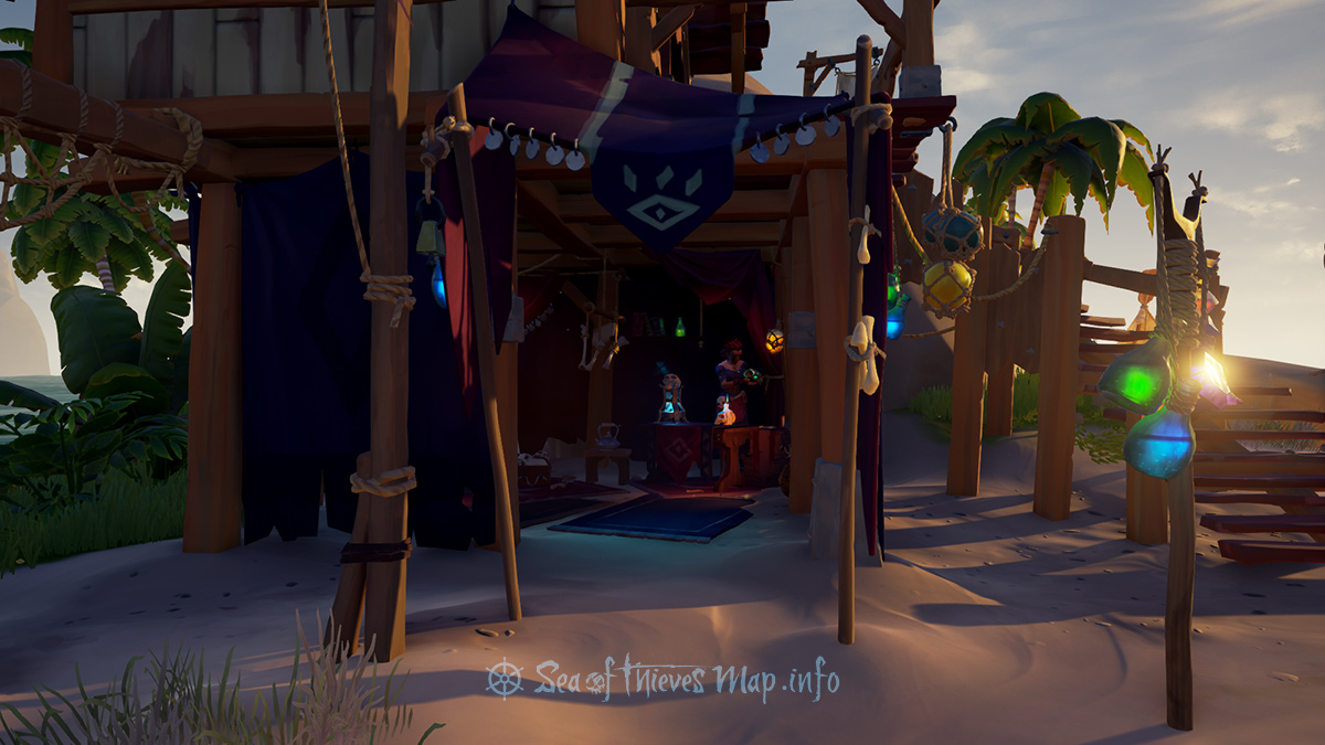 Sea Of Thieves Map - Sanctuary Outpost - Order of Souls Shopkeeper