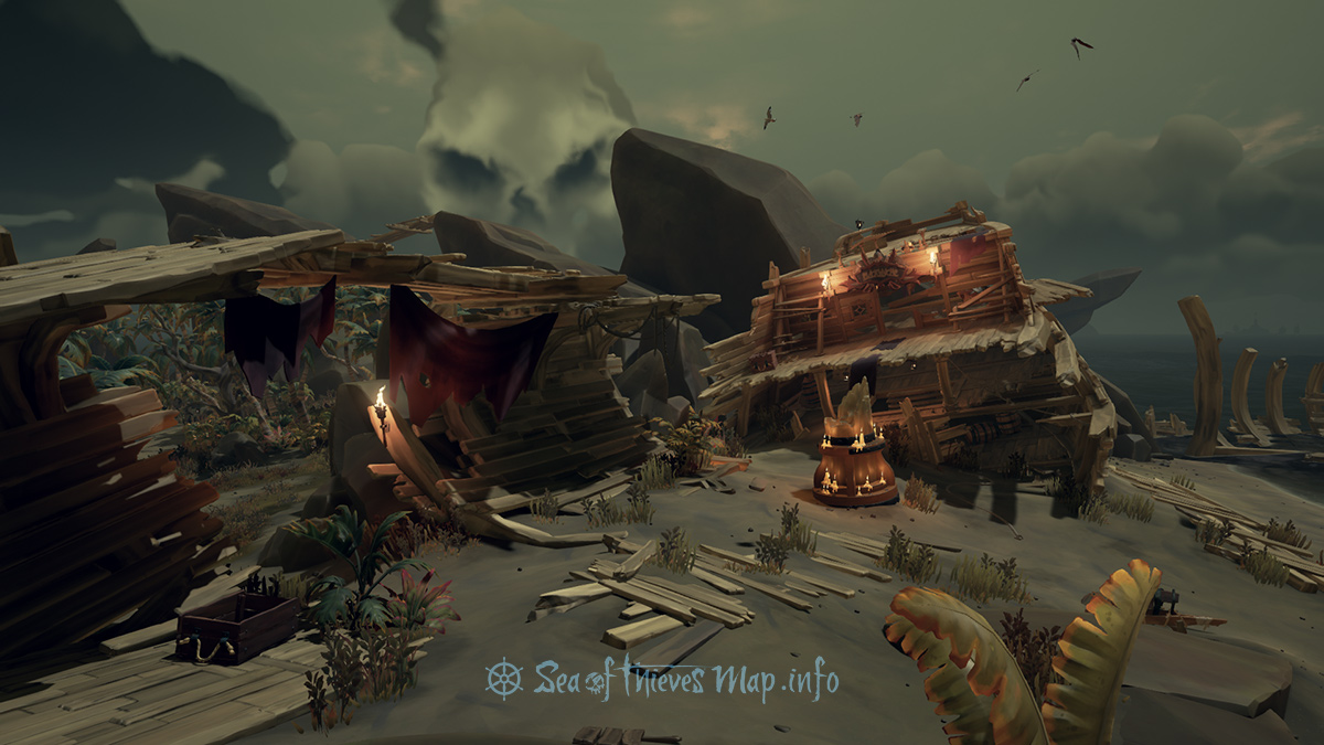 Sea Of Thieves Map - Large Shipwreck - Landmark