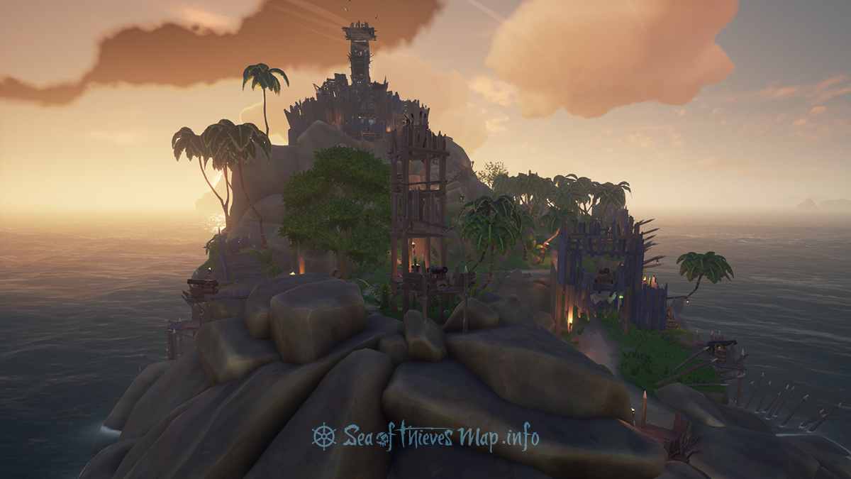 Sea Of Thieves Map - Fort Island - Lost Gold Fort
