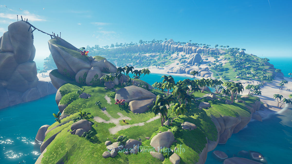 Sea Of Thieves Map - Adventure Island - Smuggler's Bay