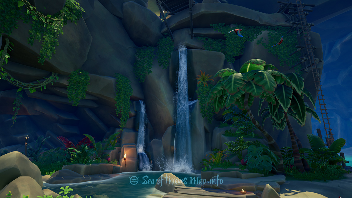 Sea Of Thieves Map - Waterfall - Landmark