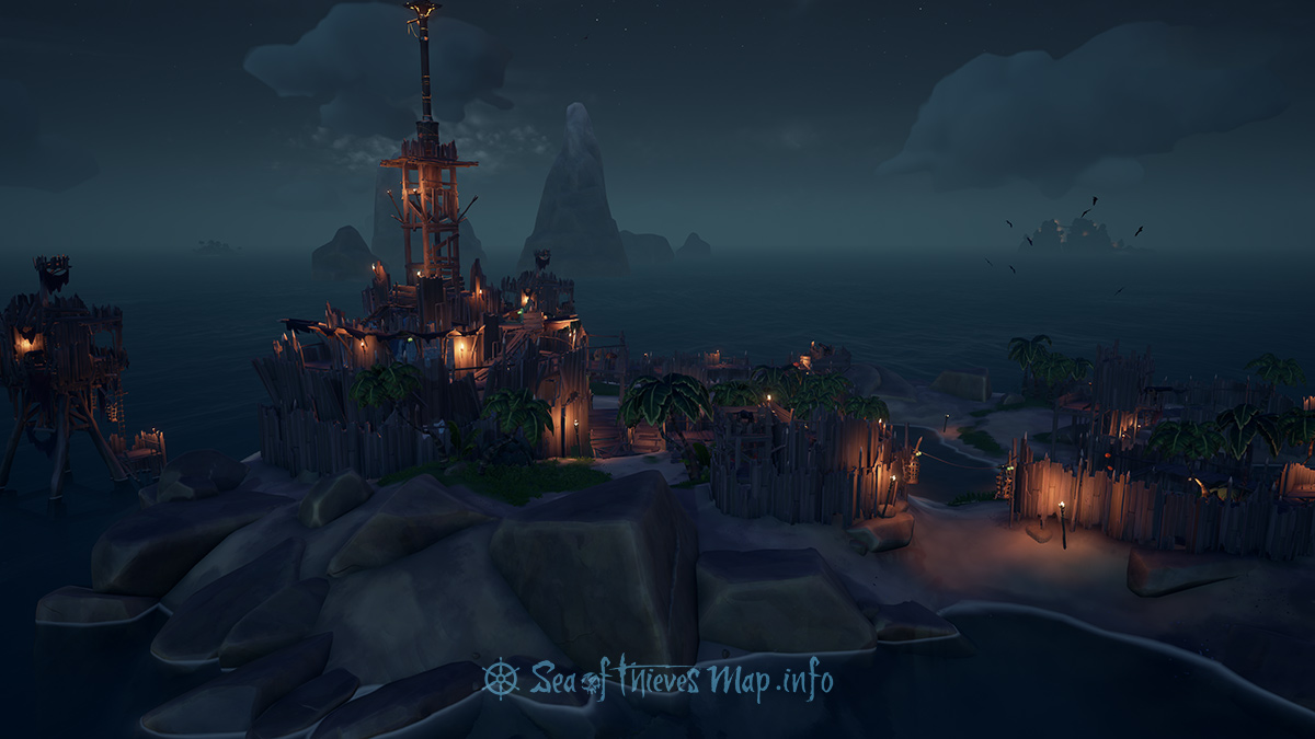 Sea Of Thieves Map - Fort Island - The Crow's Nest Fortress