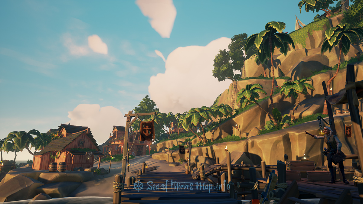 Sea Of Thieves Map - Outpost Island - Ancient Spire Outpost