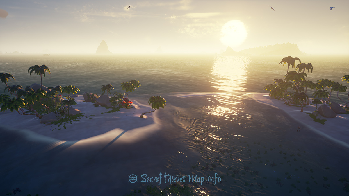 Sea Of Thieves Map - Adventure Island - Salty Sands