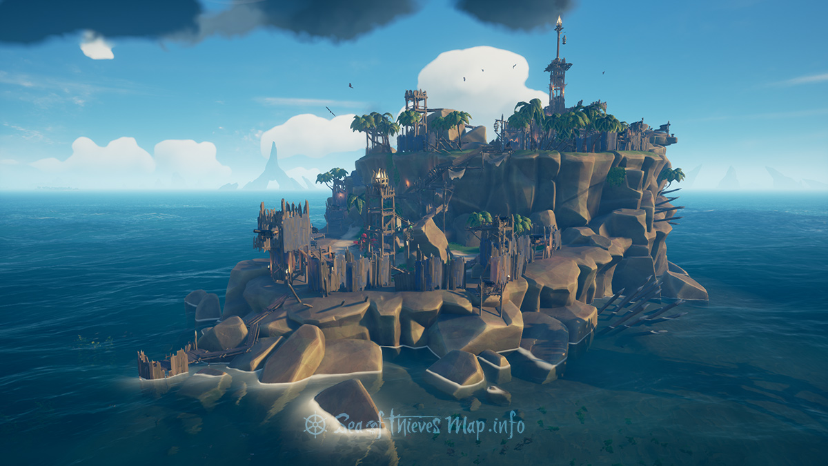 Sea Of Thieves Map - Fort Island - Old Boot Fort