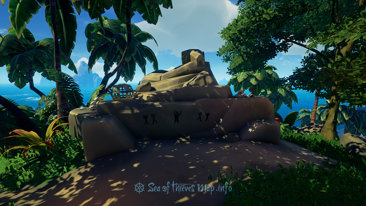 Sea Of Thieves Map - To the stone serpent at the highest point now ye need to tread, a secret shown when this map is read - Riddle Step