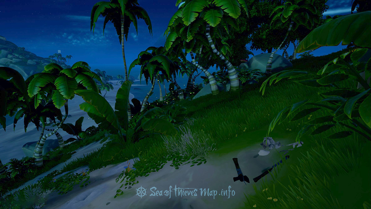 Sea Of Thieves Map - The remains of the treasure seeker near the south west shores holds secrets untold - Riddle Step