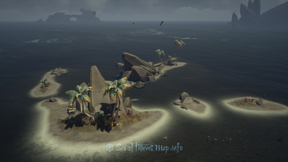 Sea Of Thieves Map - Adventure Island - Shark Tooth Key