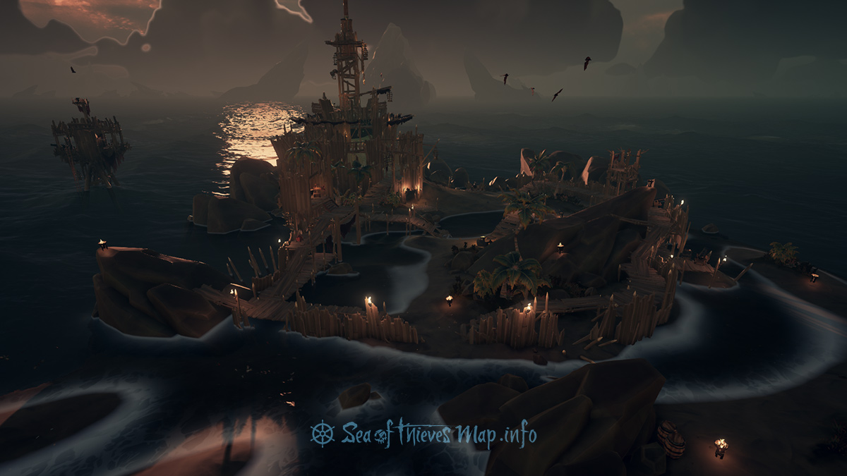 Sea Of Thieves Map - Fort Island - Skull Keep