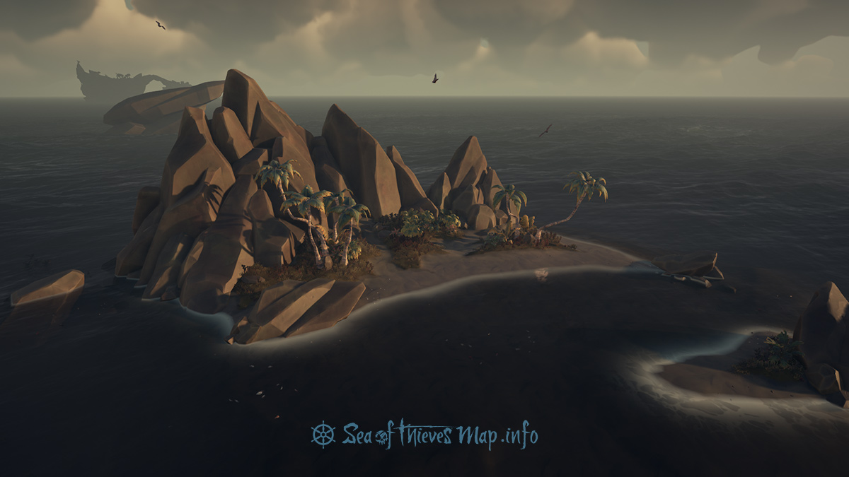 Sea Of Thieves Map - Adventure Island - Black Water Enclave
