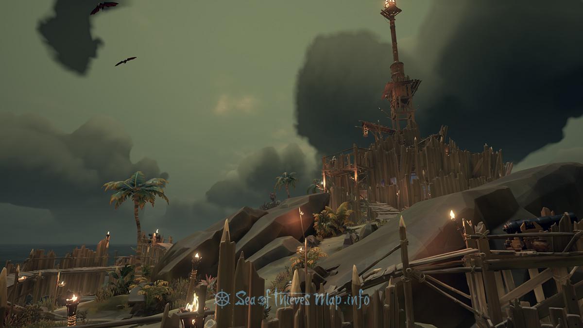 Sea Of Thieves Map - Fort Island - Kraken Watchtower