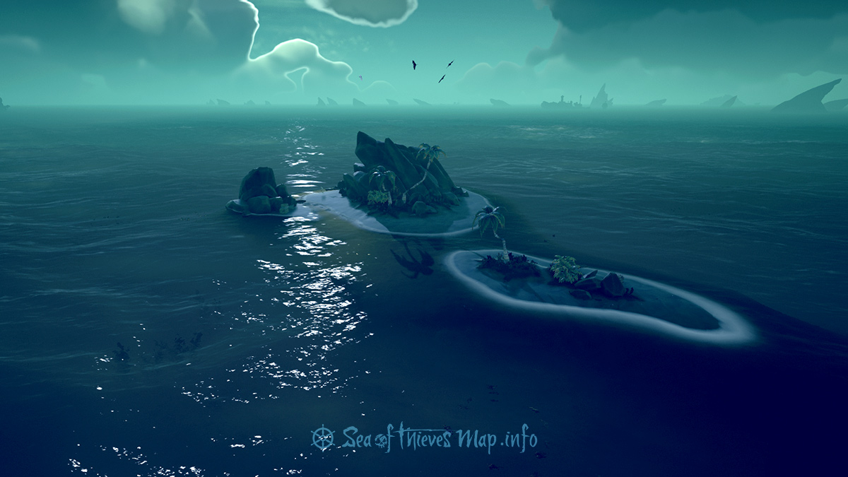 Sea Of Thieves Map - Adventure Island - Black Sand Atoll
