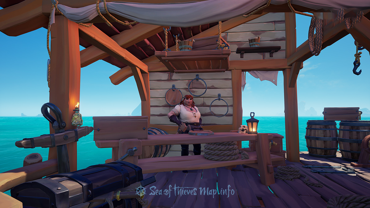 Sea Of Thieves Map - Golden Sands Outpost - Shipwright