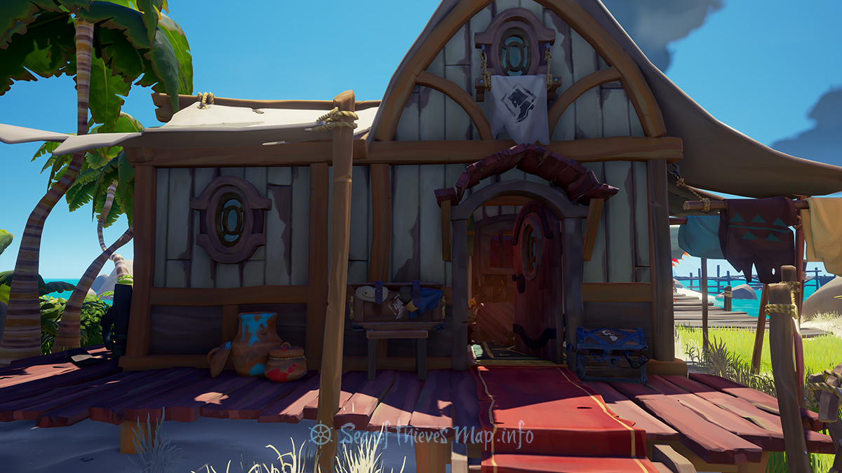 Sea Of Thieves Map - Golden Sands Outpost - Clothing Shop