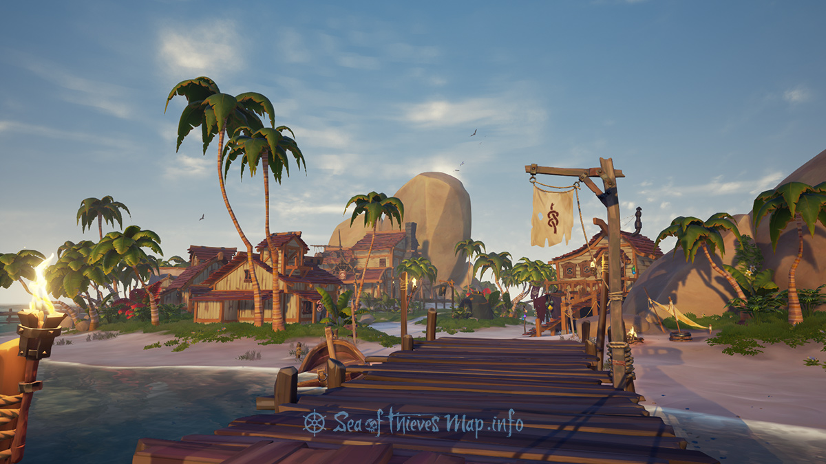 Sea Of Thieves Map - Outpost Island - Sanctuary Outpost