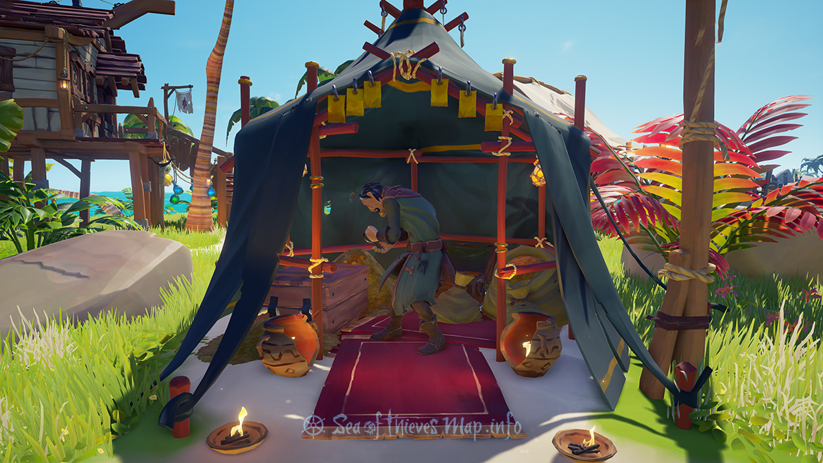 Sea Of Thieves Map - Golden Sands Outpost - Gold Hoarder Shopkeeper