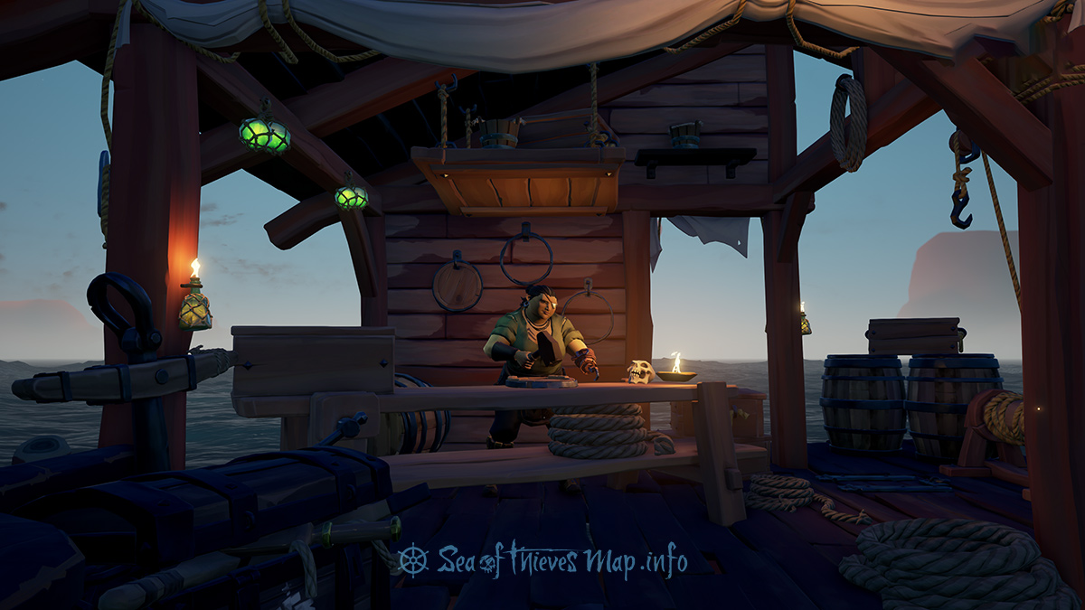 Sea Of Thieves Map - Ancient Spire Outpost - Shipwright