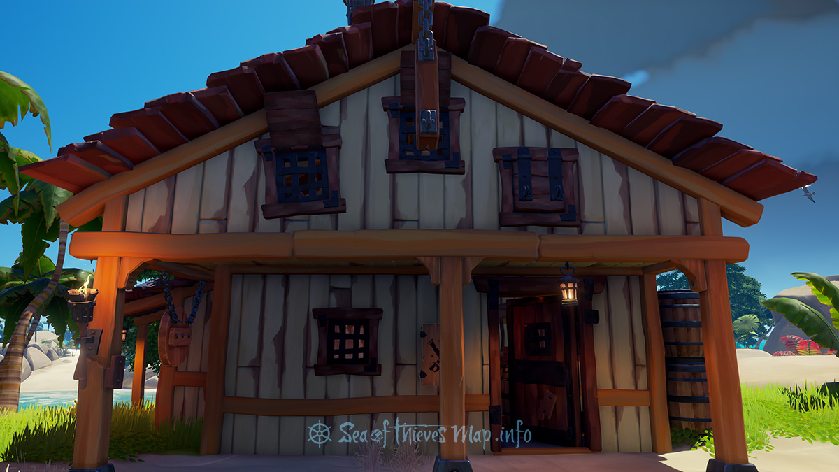 Sea Of Thieves Map - Golden Sands Outpost - Weaponsmith's Shop